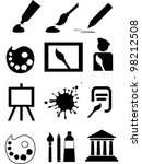 Art Icons. Collection Of Desig...
