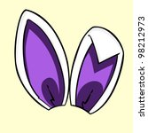 easter purple bunny ears   Shutterstock .eps vector #98212973