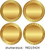 round golden background | Shutterstock .eps vector #98215424