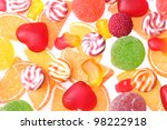 colorful jelly candies... | Shutterstock . vector #98222918