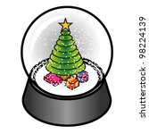 a snow dome with a christmas...   Shutterstock .eps vector #98224139