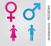 set of male and female sex... | Shutterstock .eps vector #98228264