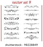 vector set  calligraphic design ...   Shutterstock .eps vector #98228849