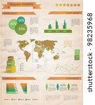 retro infographics set. world... | Shutterstock .eps vector #98235968