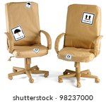 office chairs wrapped up in... | Shutterstock . vector #98237000