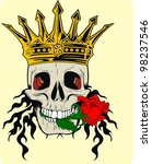 flower king skull | Shutterstock .eps vector #98237546