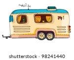 caravan | Shutterstock .eps vector #98241440
