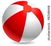 red and white beach ball... | Shutterstock .eps vector #98248448