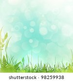 spring or summer meadow with... | Shutterstock .eps vector #98259938