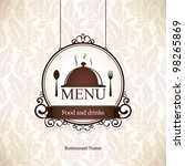 restaurant menu design | Shutterstock .eps vector #98265869