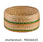 empty wicker basket isolated on ... | Shutterstock . vector #98266610
