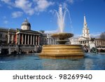 Trafalgar Square In London...