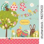 easter extravaganza. big easter ... | Shutterstock .eps vector #98270423