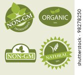 set of various product labels | Shutterstock .eps vector #98278250