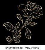 golden rose   freehand on a...   Shutterstock .eps vector #98279549