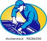 auto mechanic car repair retro   Shutterstock .eps vector #98286500