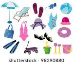 beach time | Shutterstock .eps vector #98290880