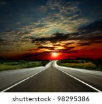 Most Asphalt Road. Shallow...