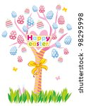 easter greeting card with a... | Shutterstock .eps vector #98295998