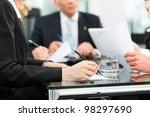 business   meeting in an office ... | Shutterstock . vector #98297690
