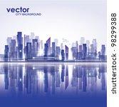 city landscape | Shutterstock .eps vector #98299388
