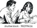 illustration of a pair of...   Shutterstock . vector #98299616