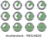 set vector simple abstract... | Shutterstock .eps vector #98314820