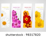 set of banners with different... | Shutterstock .eps vector #98317820