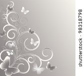 wedding card or invitation... | Shutterstock .eps vector #98318798