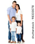 happy family smiling   isolated ... | Shutterstock . vector #98333078