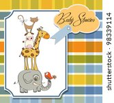 baby shower card with funny... | Shutterstock .eps vector #98339114