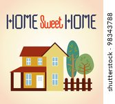 vector illustration of home and ... | Shutterstock .eps vector #98343788