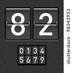 countdown timer with different... | Shutterstock .eps vector #98343953