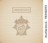 wooden texture with heraldic... | Shutterstock .eps vector #98348393