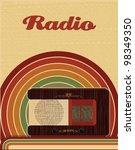 radio poster banner | Shutterstock .eps vector #98349350