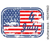 grunge the 4th of july... | Shutterstock .eps vector #98349860
