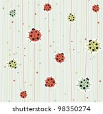 background with ladybirds....