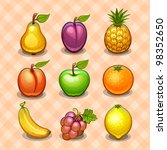 Set of fruits - stock vector