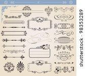 vector calligraphic decoration... | Shutterstock .eps vector #98353289