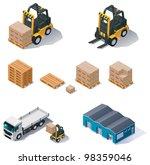 vector isometric warehouse... | Shutterstock .eps vector #98359046