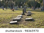 graves and tombstones at a...   Shutterstock . vector #98365970