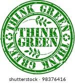 grunge think green rubber stamp ... | Shutterstock .eps vector #98376416