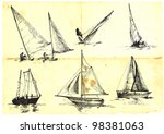 Collection Of Sailing Boats  ...