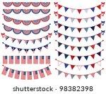 vector set of patriotic bunting | Shutterstock .eps vector #98382398