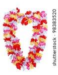 colorful hawaiian lei flower... | Shutterstock . vector #98383520