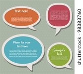 speech bubbles | Shutterstock .eps vector #98383760
