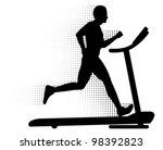 Vector Man Running On A...