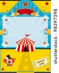 circus on the beach. a circus... | Shutterstock .eps vector #98397398