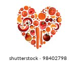 heart and healthy food | Shutterstock . vector #98402798