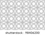 seamless pattern of rounds | Shutterstock .eps vector #98406200